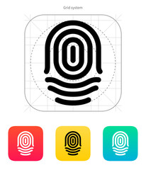 Fingerprint whorl type icon.