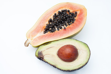 avocado and papaya