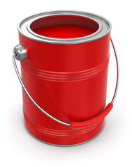 Cans of paint (clipping path included)