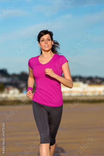 Runner on the beach