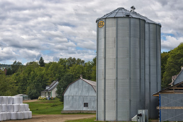 grain metallic silo
