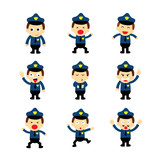 policeman vector cartoon