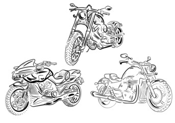 sketch motorcycles