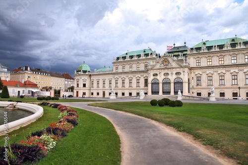 Belvedere Palace in Vienna, Austria - old landmark