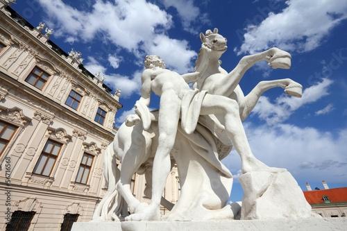 Belvedere Palace in Vienna, Austria - old landmark
