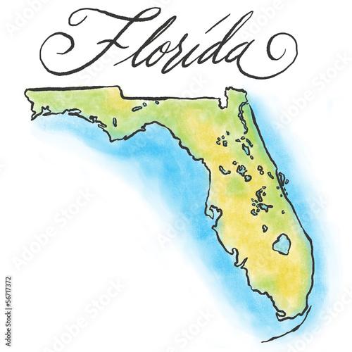 Florida map - 56717372