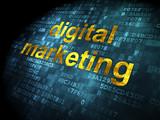 Marketing concept: Digital Marketing on digital background