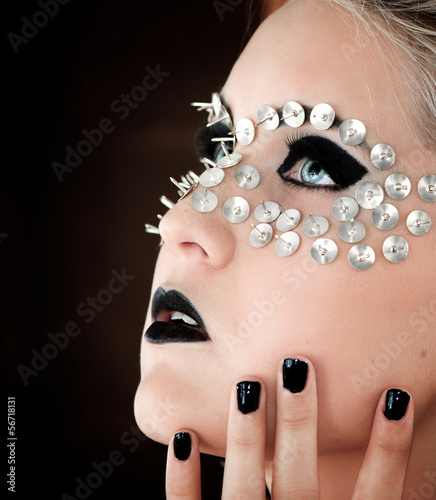 Extrem make-up (Blue Eyes)