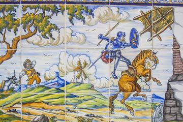 Cerámica del Quijote, azulejos de cerámica Talavera de la Reina