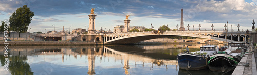 Pont Alexandre III and Eiffel Tower, Paris