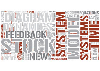 Systems dynamics Word Cloud Concept