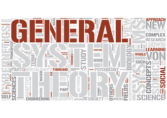 Systems theory Word Cloud Concept