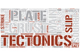 Tectonics Word Cloud Concept