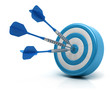canvas print picture - Success darts