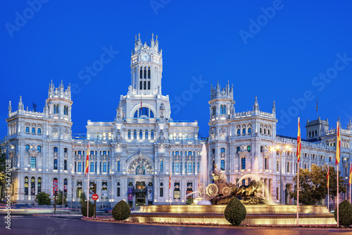 Plaza de la Cibeles by night