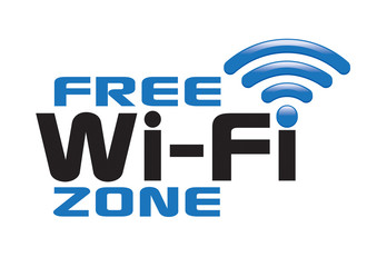 free wi-fi zone logo icon