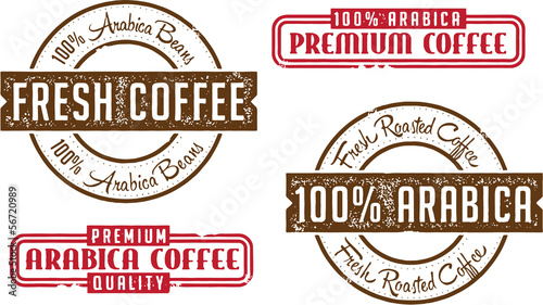 Arabica Beans Coffee Stamps