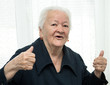 Senior woman showing ok sign