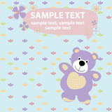 vector baby card with teddy bear