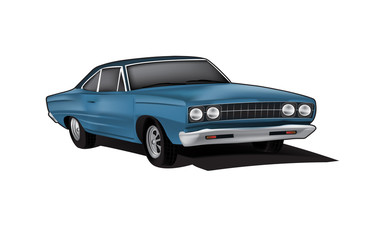muscle car vector illustration
