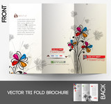 Flower shop Tri-Fold Mock up & Brochure Design