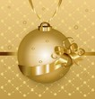 Christmas illustration with golden ball