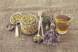Fototapety Chamomile tea and Lavender