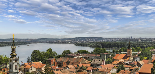 Panoramic View From Gardos Lookout in Zemun on River Danube Town