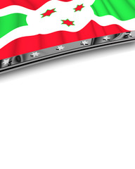Designelement Flagge Burundi