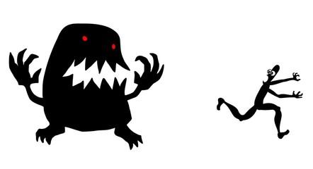 Monster running