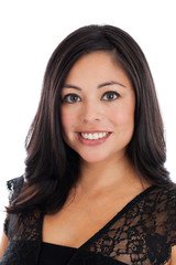 Beautiful Hispanic Woman Portrait isolated