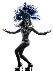 woman samba dancer silhouette