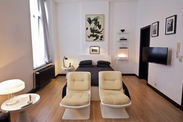 appartement design noir et blanc
