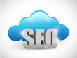cloud computing seo text illustration design
