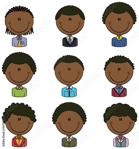 Office Worker African-American Male Avatar