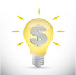 light bulb dollar currency business idea