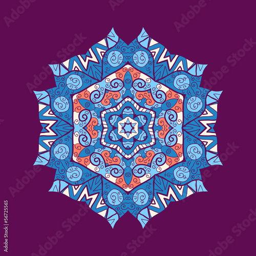 mandala ornament with space for your text. Vector image