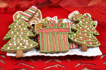 Christmas trees cookies