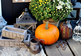 Halloween decorations with pumpkin - Fine Art prints