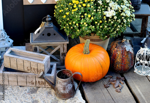 Halloween decorations with pumpkin