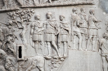 Trajan column in Rome, Italy