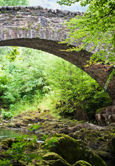 Old stone arched bridge