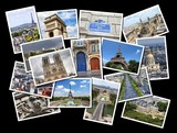Paris photos - beautiful postcard collage