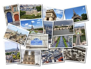 Paris, France - beautiful postcard collage