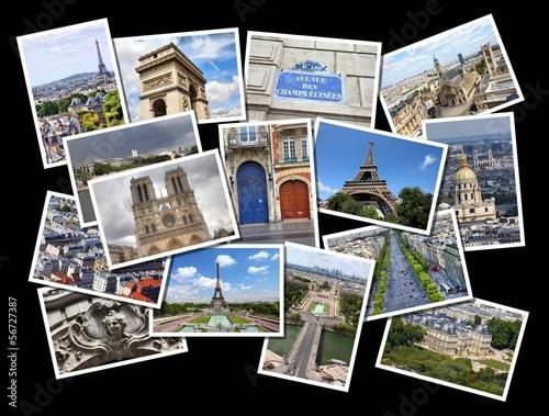 Paris photos - beautiful postcard collage