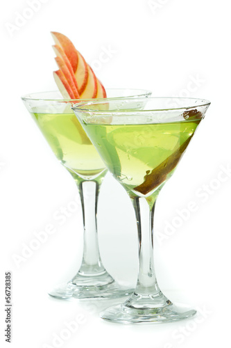 green apple martinis