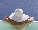 woman in the pool - 56729541