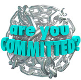 Are You Committed Chain Link Ball Determined Goal poster