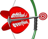Attitude is Everything Bow Arrow  Positive Outlook Wins Game