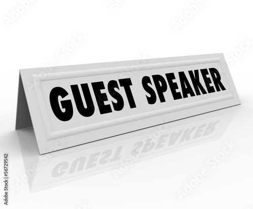 Guest Speaker Name Tent Card Presentation Panel Discussion